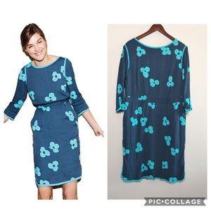 Boden Tipped Clover sheath dress